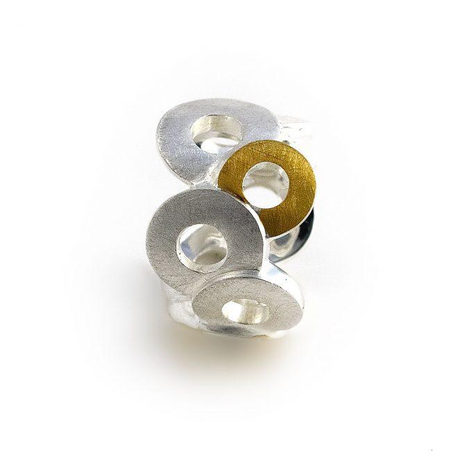 925/-Silber mit 900/-GG Belštung